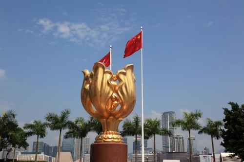 港回归20周年紫荆花广场-齐鹏飞 无 一国 何谈 两制