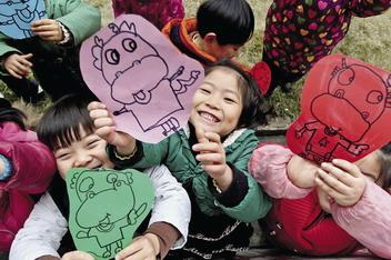 蜡笔画 过新年 夏履镇东联幼儿园小班