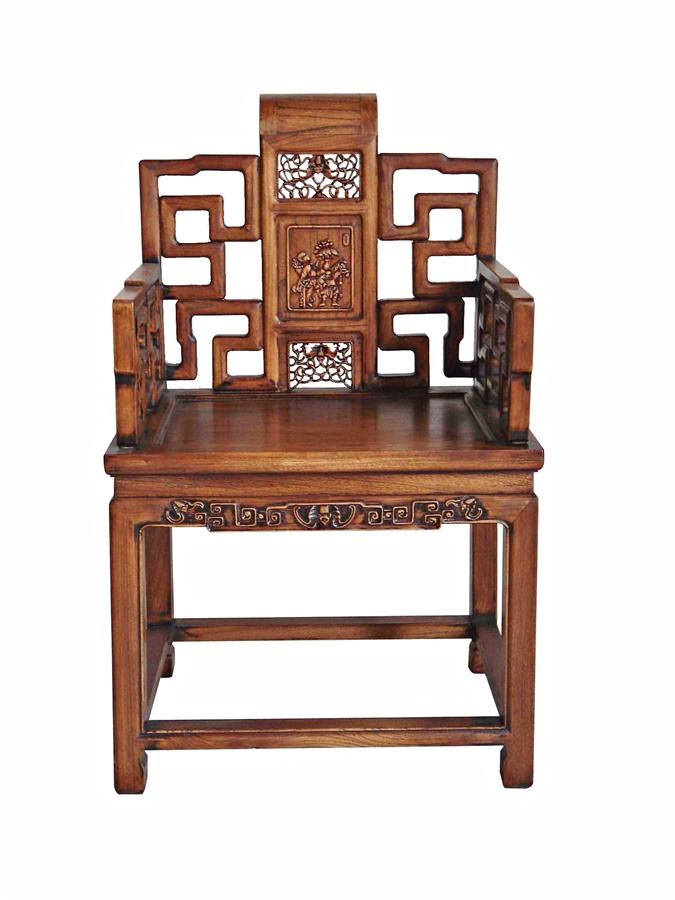 A Beijing Style Chair Its Graceful And Elegant Design Reflects Rich Imperial Culture