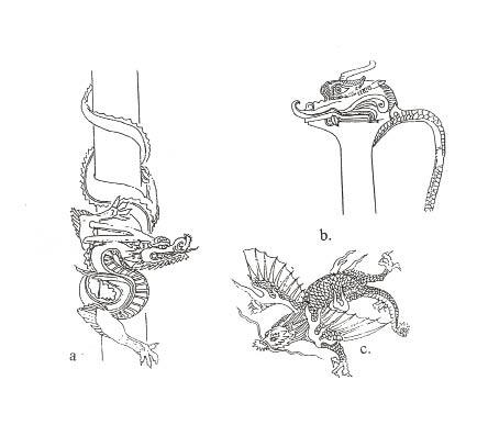 Dragones Japoneses. Lienzo Metlico Tatuaje Oriental Dragon Fantasy ...