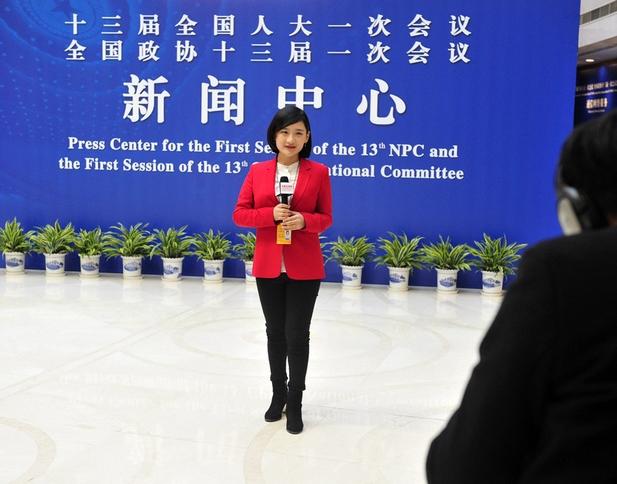 设在北京梅地亚中心的全国两会新闻中心今天正式运行,这里将为参与本